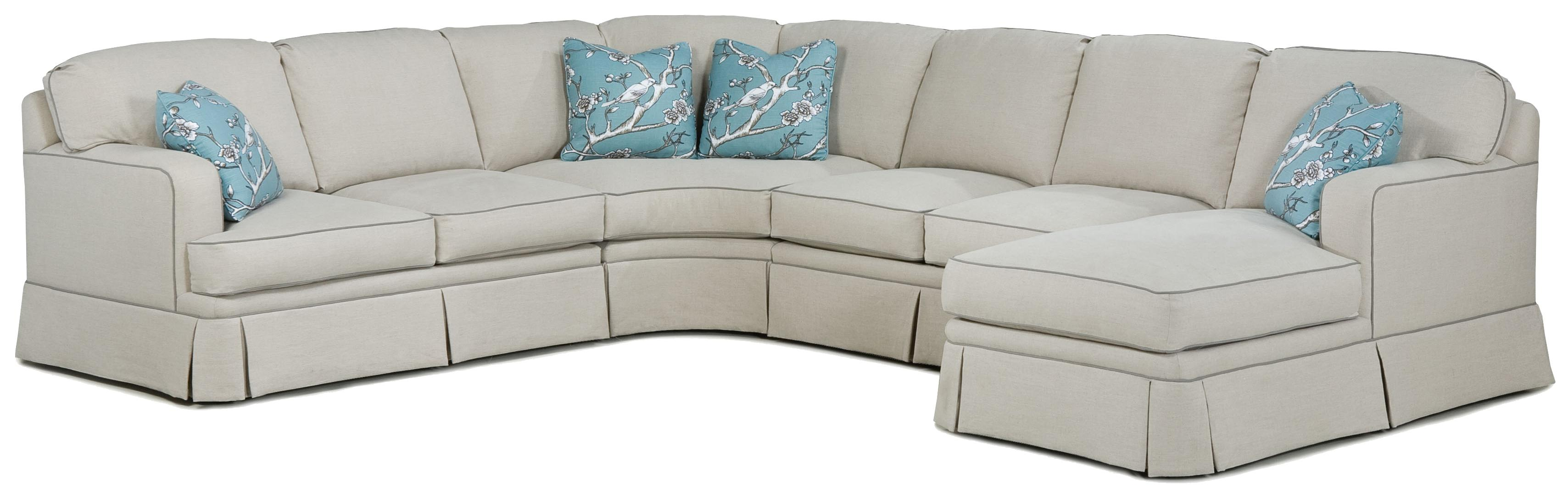 2TKS Modern Sectional by Fairfield at Jacksonville Furniture Mart