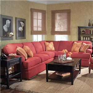2 Piece Sectional Sofa with Bun Feet