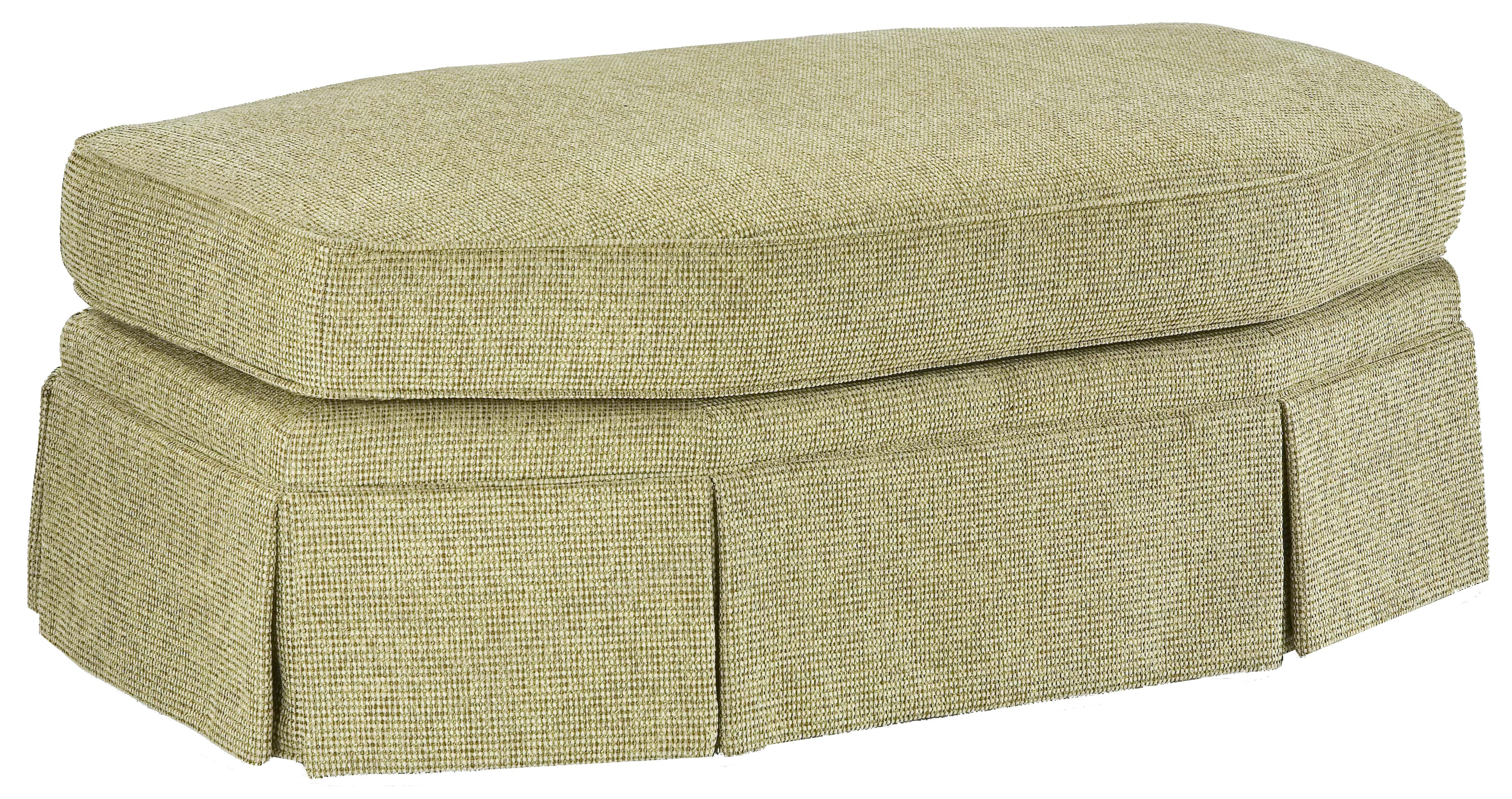 3766 Eight-Sided Oval Ottoman by Fairfield at Jacksonville Furniture Mart