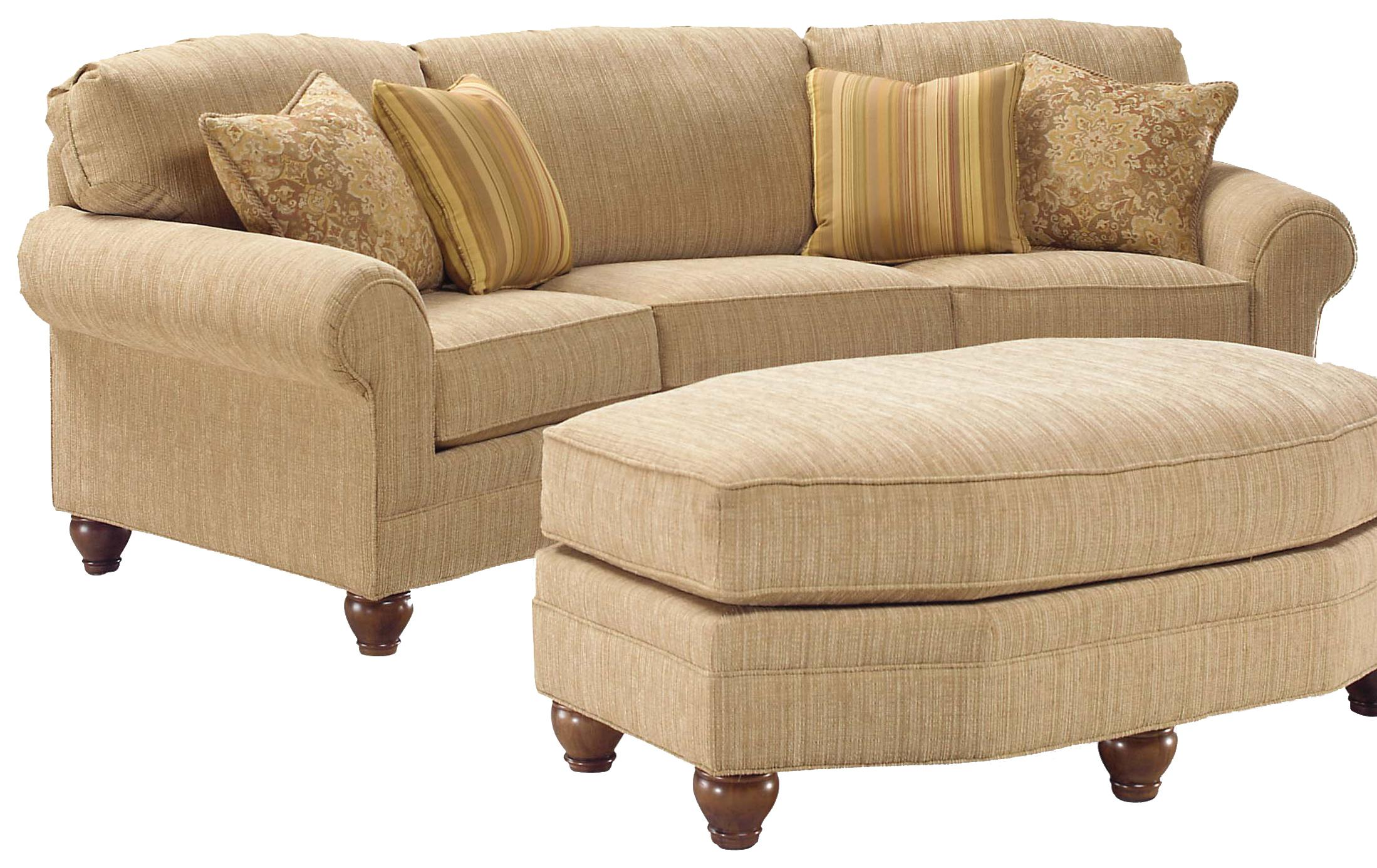 3768 Curved Sofa by Fairfield at Lindy's Furniture Company