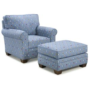 Fairfield 3784 Chair & Ottoman