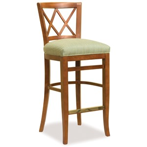 Bar Stool with Upholstered Seat