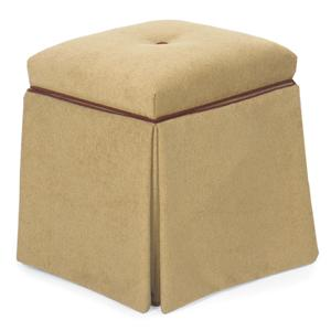 Storage Ottoman with Skirt