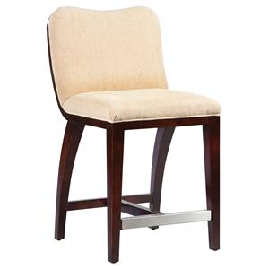 Fairfield Barstools High End Counter Stool with Wood Accents