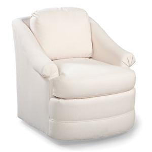 Swivel Club Chair w/ Rolled Arms