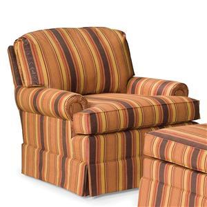 Skirted Swivel Glider Chair