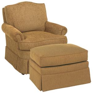 Camel Back Lounge Chair & Ottoman