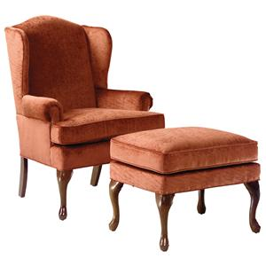 Fairfield Chairs Wing Chair & Ottoman