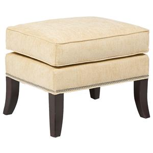 Contemporary Accent Ottoman with Nail Head Trim