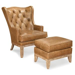 Wing Chair and Ottoman Combination