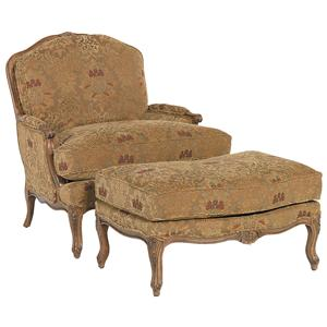 Fairfield Chairs Traditional Chair & Ottoman Set