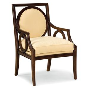 Exposed Wood Chair with Circular Designs