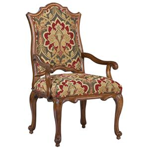 Victorian Accent Arm Chair with Curved Seat Back