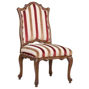 Victorian Accent Side Chair with Curved Seat Back