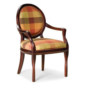 Exposed Wood Occasional Chair