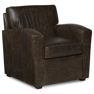 Upholstered Semi-Attached Back Lounge Chair