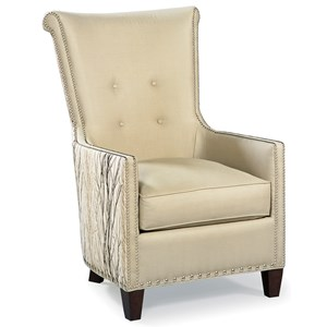 Contemporary Chair with Tufted Back