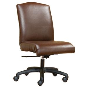 Smooth Armless Swivel Chair