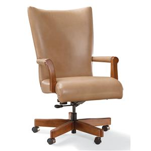 Executive Swivel Chair with Exposed Wood