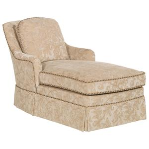Traditional Trimmed Chaise