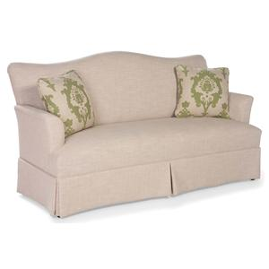 Skirted Camel Back Sofa