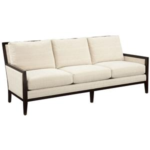 Fairfield Sofa Accents Contemporary Styled Sofa with Exposed Wood