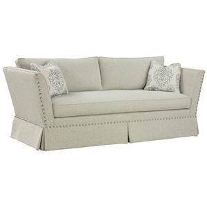 Unique Accent Sofa in Flared Arm Style with Traditional Nail Head Trim