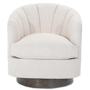 Tipsy Swivel Chair with Shell Back