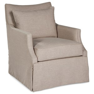 Swivel Glider Chair with Loose Pillow Cushions