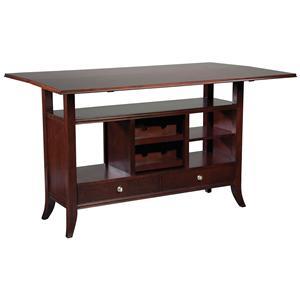 Fairfield Tables Flip-Top Wine Rack Console Table