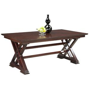 Fairfield Tables Formal Dining Room Table in Trestle Style