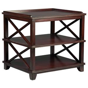 Fairfield Tables Casual End Table with Open Storage