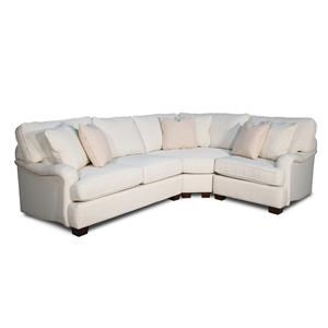 3 PC Corner-Loveseat-Chair Sectional