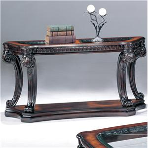 Console Table w/ Glass Inserts