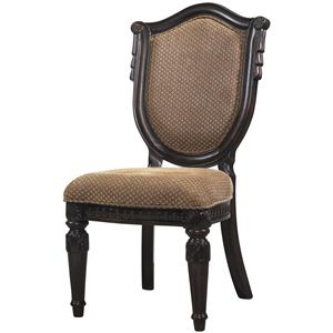 Upholstered Side Chair w/ Shield Back