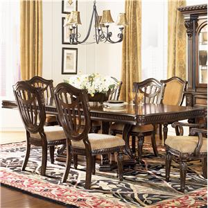 Double Pedestal Rectangular Dining Table