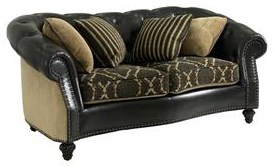 Traditional Loveseat with Nailheads