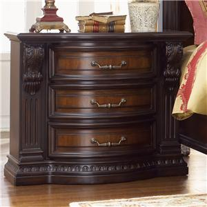 Night Stand w/ Acanthus Leaf Detailing