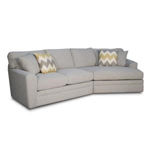 2 PC Loveseat Chaise Cuddler Sectional