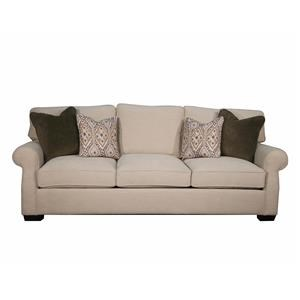 Stationary Sofa w/ Rolled Arms