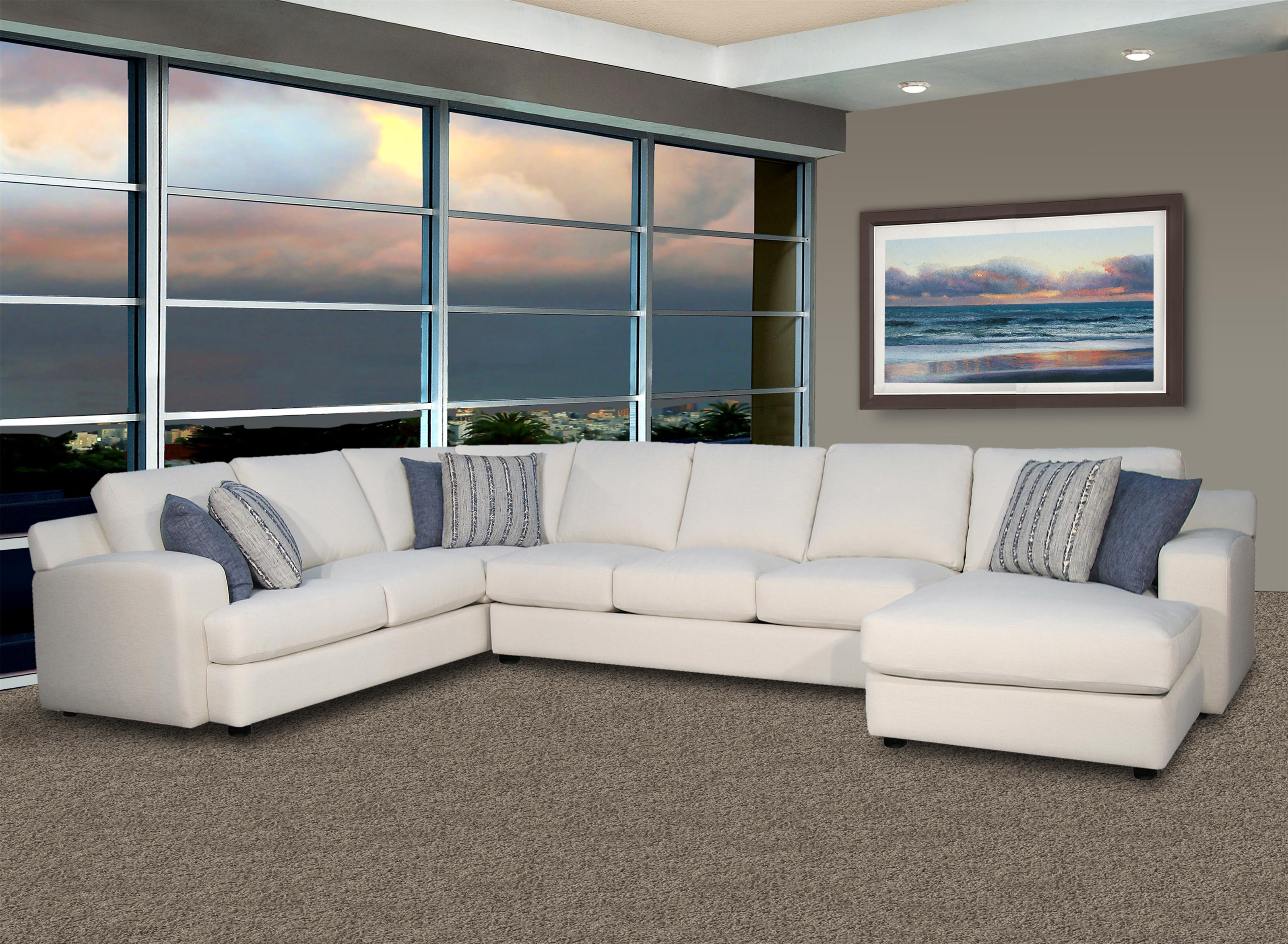 LaJolla 3 Piece Sectional by Fairmont Seating at Darvin Furniture