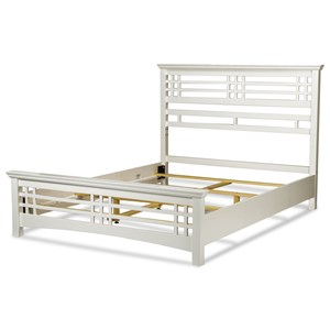 Avery Full Bed with Wood Frame and Mission Style Design with Cottage White Finish
