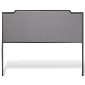 Bayview Queen Headboard with Gray Dove Upholstery