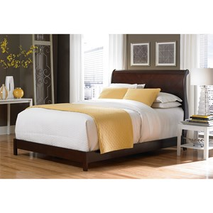 Bridgeport Platform Complete Bed with Curved Sleigh Headboard with Espresso Finish