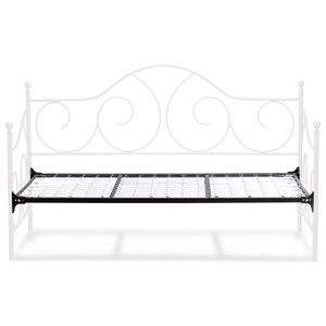 Twin Caroline Complete Metal Daybed with Sloping Back Panel and Link Spring