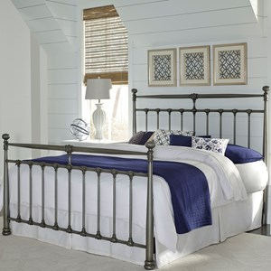 King Kensington Complete Metal Bed with Stately Posts and Detailed Castings