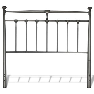 California King Kensington Metal Headboard with Stately Posts and Detailed Castings
