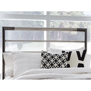 Queen Kenton Metal Headboard with Horizontal Bar Design