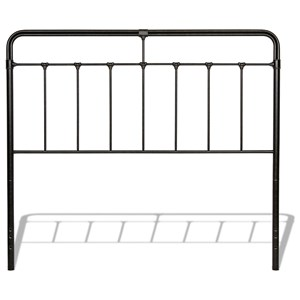 Fairfield Queen Metal Headboard with Spindles and Castings
