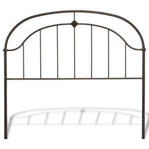 Queen Transitional Cascade Metal Headboard